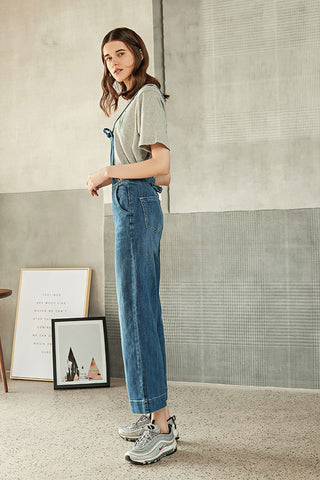 SPAGHETTI STAP OVERALL JEANS