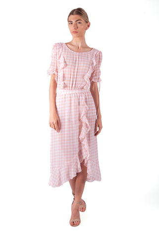 FOR LOVE & LEMONS-DOROTHY RUFFLED MIDI DRESS