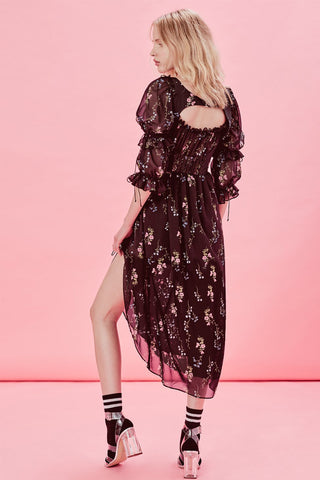 FOR LOVE & LEMONS-NICOLA MIDI DRESS