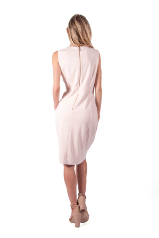 CALVIN KLEIN-SOLID SHEATH DRESS