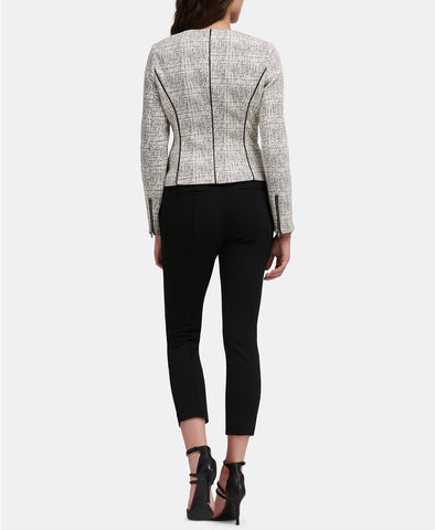 DKNY Zip up Jacket with PU trim