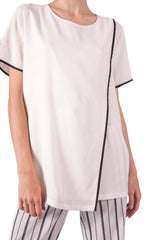 DKNY-HIGH NECK T-SHIRT BLOUSE