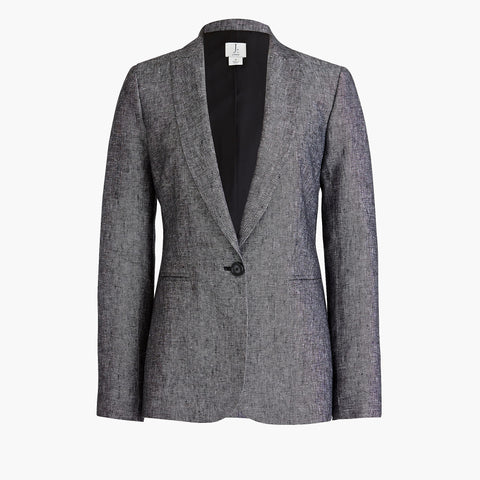 J CREW-ONE-BUTTON LINEN BLAZER