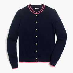 J CREW-TIPED CARYN CARDIGAN SWEATER