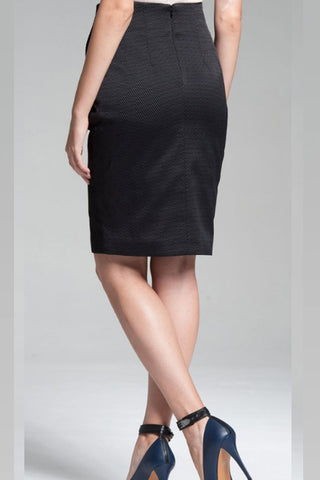 High Waisted Classic Skirt - Black