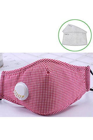 Cotton Fashion Masks Washable and Reusable Protective Non-Medical Face Coverings Colored Pattern Red 2-pack