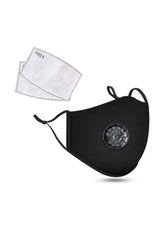 Cotton Fashion Masks Washable and Reusable Protective Non-Medical Face Coverings Colored Uniform Design  Black 2-pack