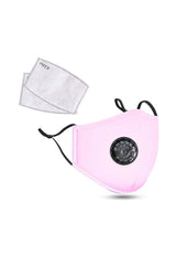 Cotton Fashion Masks Washable and Reusable Protective Non-Medical Face Coverings Pastel Colors  Design  Pink 2-pack