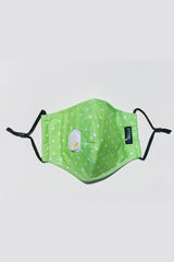 Cotton Cloth Fashion Masks Washable and Reusable Protective Non-Medical Face Coverings Dots Design Green 2-pack