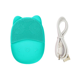 ViBelle Silicone Facial Cleansing Brush Gift Set-Green