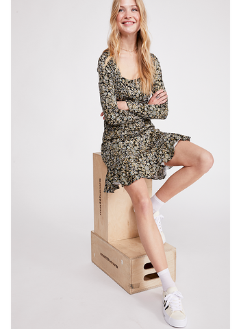 FREE PEOPLE-BOHEME MINI DRESS