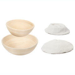 ViBelle 10 Inch and 9 Inch Bread Proofing Basket Set
