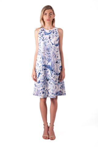 RALPH LAUREN-PAISLEY SHIFT DRESS