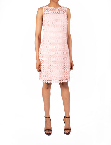 RALPH LAUREN-LACE SHIFT DRESS