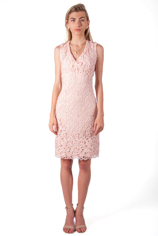 RALPH LAUREN-SLEEVELESS LACE BODYCON