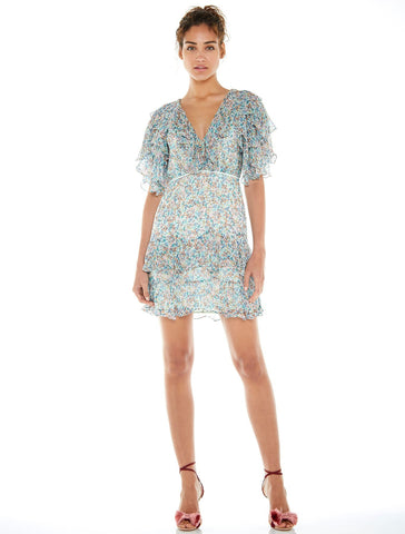 TALULAH-BOUQUET MINI DRESS