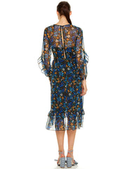 TALULAH-HIGHER LOVE L/S MIDI DRESS