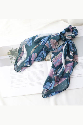 Hair Scrunchies Elastic Hair Bands Hair Scarf Ponytail Cute Colorful Floral Design