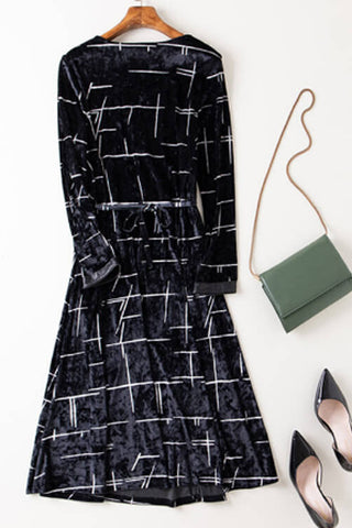 Velvet Fit and Flare Dress