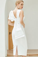 Sleeveless Back Bowknot Bodycon Dress