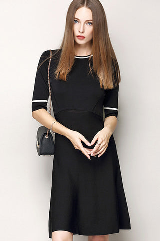 1/2 Sleeve Sweater Dress