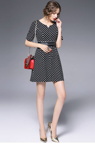 1/2 Sleeve Shirt A-line Dress