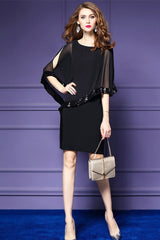 Bell Sleeve Popover Sheath Dress