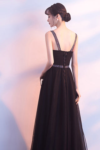 SPAGHETTI STRAP LOW CUT TULLE DRESS