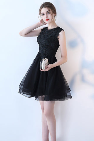 SLEEVELESS SHORT TULLE DRESS