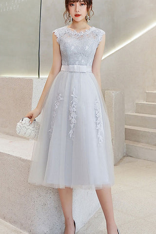 SLEEVELESS EMBROIDERED TULLE DRESS