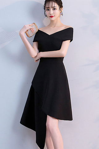 CAP SLEEVE ASYMMETRICAL HEM A-LINE DRESS