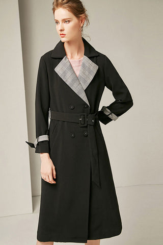 Double-Breasted Waist Belt Overcoat