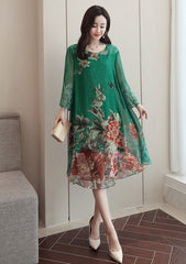 Long Sleeve Floral Shift Dress