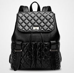 Lamb Leather Quilted Back Pack