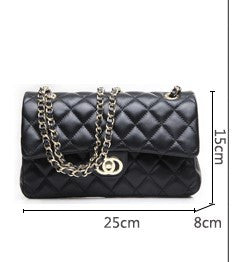 Lamb Leather Quilted Metal Chain purse