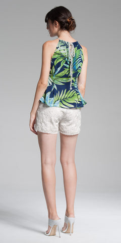 Rope Halter Top - Tropical