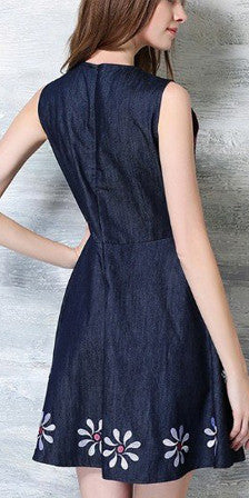 Emb. Denim Dress