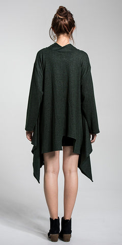 Cowl Neck Asymmetrical Tunic