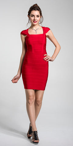 Square Neck Bandage Dress