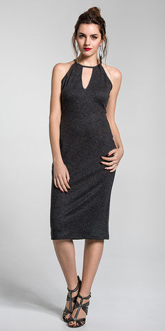 V-Front Sleeveless Dress