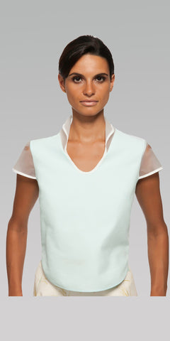 Curved Hem Top - Glacier