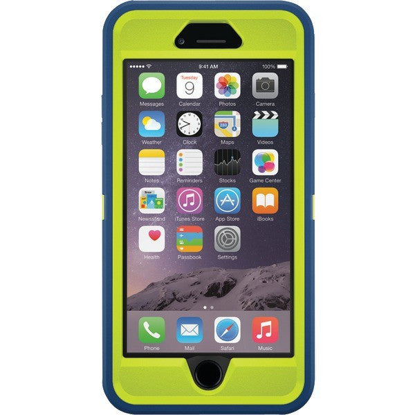info for 98900 9a003 OtterBox Defender Case for iPhone 6+/6s Plus - Blue/Lime Green