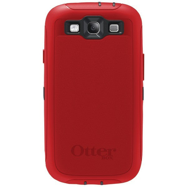 reputable site a4893 f0c22 OtterBox Defender Series Case with Belt Clip Holster for Samsung Galaxy S3  (Black/Red)