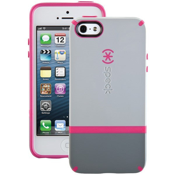 sports shoes 82987 62cd6 Speck CandyShell Flip Case for iPhone 5/5s (Pebble Gray/Gravel/Raspberry  Pink)