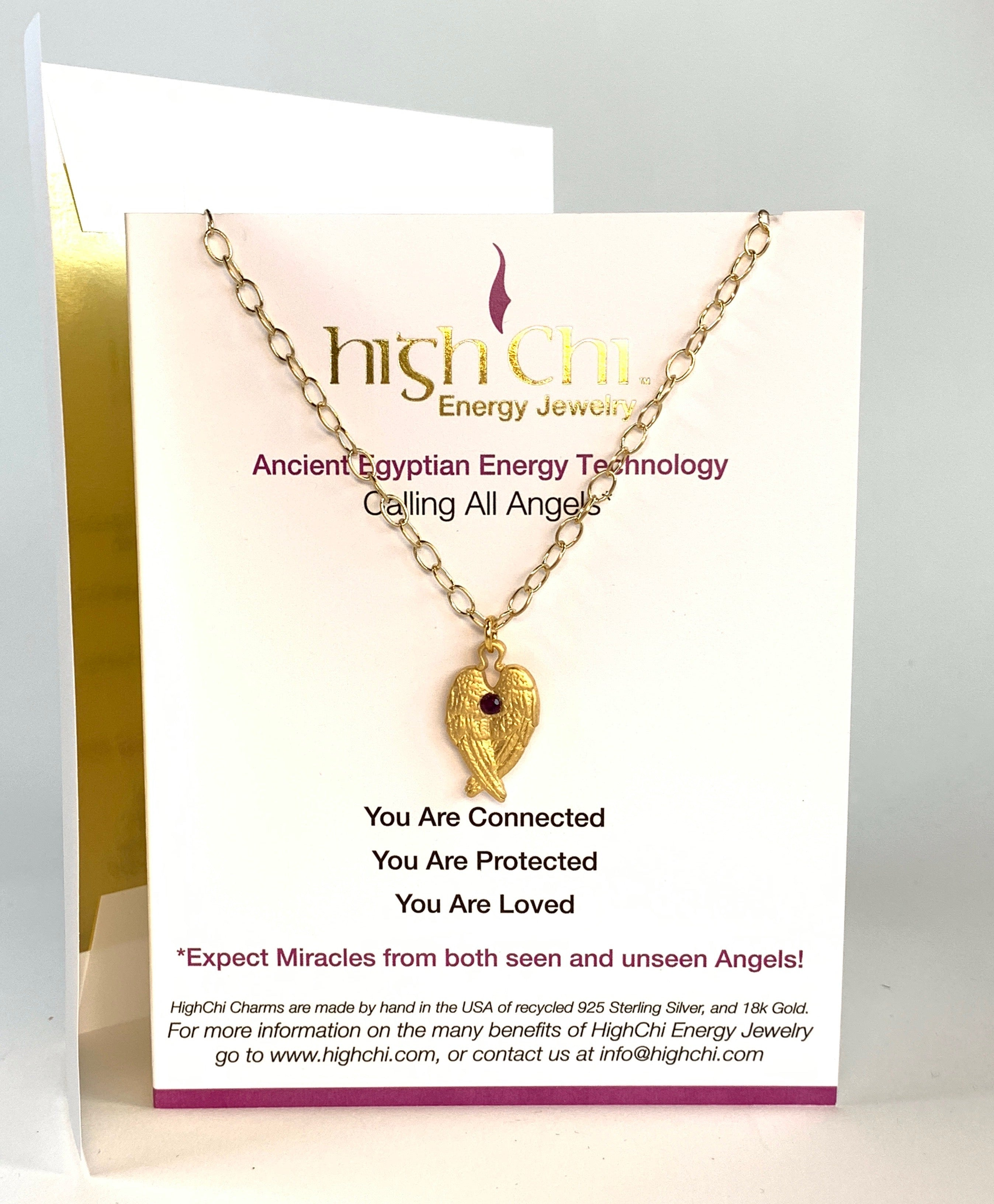 Gift Card - Calling All Angels Chi Charm Gold Plated on 18