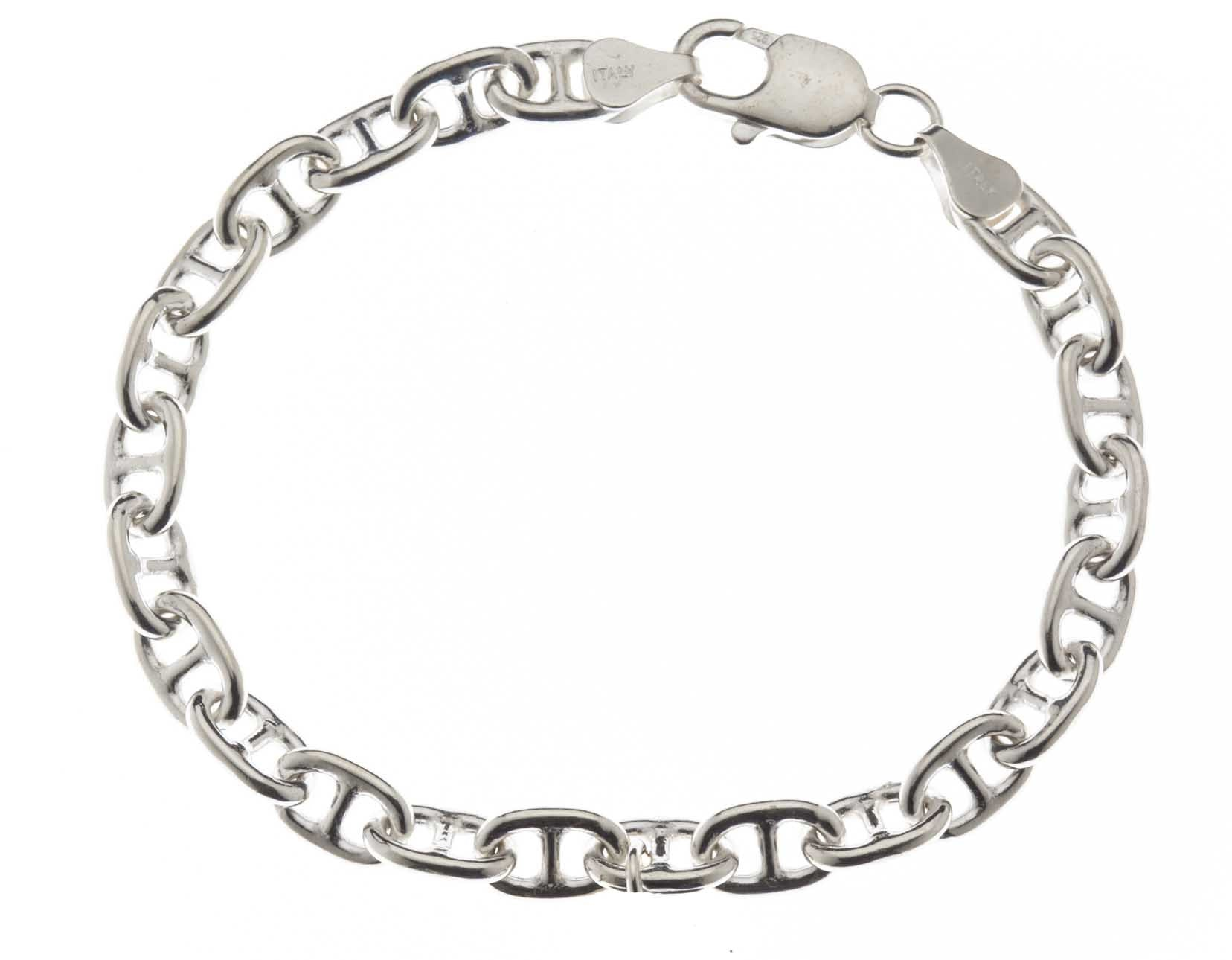 23327292f4ac Wide Anchor Chain Bracelet Sterling Silver 925