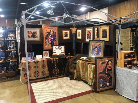 Leo White Horse Art Show Booth