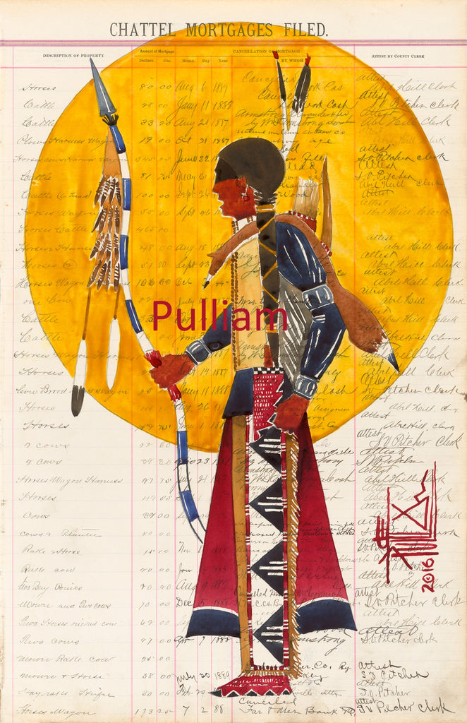 Original Ledger Art Joe Pulliam