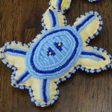 Beaded Turtle Amulet - Blues