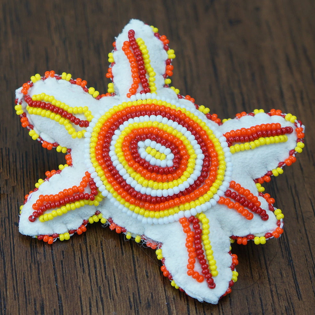 Beaded Turtle Amulet - Reds